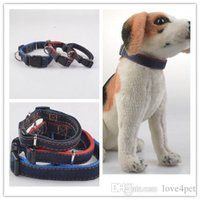Wholesale dog collars denim resale online - E05 Pet Dog Collar Pet denim collars Teddy Dog Collar classic denim collars new arrival