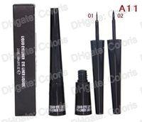 eyeliners étanches achat en gros de-Maquillage Eye-Liner Liquide WaterProof Noir EyeLiner Liquid A11 Tête molle et tête dure 2.5ml 12pcs