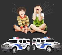 удаленные полицейские машины оптовых-Пульт дистанционного управления Cartoon RC Police Car и Race Car Toys с музыкальным освещением для детской модели автомобиля C4135