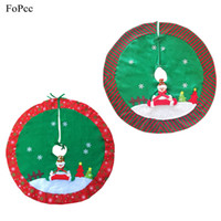 Wholesale Xmas Aprons - 90cm Christmas Snowman Tree Skirt XMAS Tree Apron Wrap Decoration Three-dimensional Pattern Merry Christmas Supplies For Home