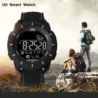 Wholesale Remote Control Stopwatch - UU sports smart watch wristband with backlight bluetooth message reminder pedometer remote camera stopwatch alarm clock waterproof