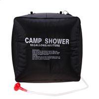 чудесный мешок оптовых-Открытый складной душ воды сумка портативный 40 л душ сумка отдых туризм Солнечной подогревом замечательный путешествия комплекты