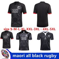 Wholesale shirts large - 2018-2019 new All Black new zealand home rugby Jerseys rugby shirts 100 thanniversary year shirts Extra large size S-4XL-5XL
