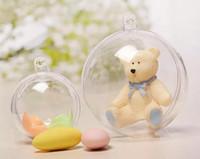 klare plastik weihnachtsbaumkugeln großhandel-Klarer hängender Ball-runde Flitter-Weihnachtsbaum-Dekoration-Plastikhandwerk-Weihnachtsgeschenkbox-Dekor-Verzierungsball