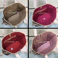 college perlen großhandel-Damen Umhängetasche mit einer Kupplung Brieftasche 40996 Echtes Leder Einkaufstasche Volle Farben Interieur 40995 Guter Preis