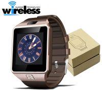 Wholesale gps watch phone camera - DZ09 Smart Watch Dz09 Watches Wristband Android Watch Smart SIM Intelligent Mobile Phone Sleep State Smart watch Retail Package