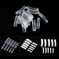 demi ongles en acrylique achat en gros de-500 PCS clair blanc naturel moitié faux salon ongles conseils outil de gel acrylique d'art de l'ongle