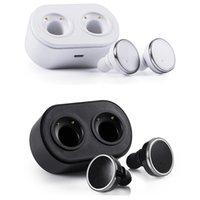 kopfhörer großhandel-Q800 Twins True kabelloser Bluetooth-Kopfhörer V4.1 In-Ear-Kopfhörer mit Doppelspur und Ladestation Freisprecheinrichtung für Smartphones