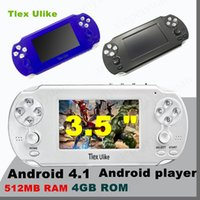 Wholesale android mp5 player - DHL Tlex Ulike Android 512MB RAM 4GB ROM Handheld TV Game Console Bluetooth Wifi HDMI Video Support MP4 MP5 NES FC SFC MD Android player