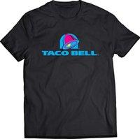 ingrosso colore della campana-Taco Bell - Fast food Logo T-Shirt nera 2018 Estate New Fashion Brand Tshirt Uomo Tinta unita Manica corta Casual I più nuovi Top Tees