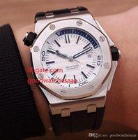 ingrosso orologi bianchi affrontati per gli uomini-Fornitore della fabbrica vendita calda di lusso orologi uomini meccanici automatici uomini faccia bianca vetro 26703 cinturini in gomma moda orologi da uomo