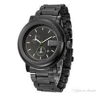 модные часы оптовых-2018 новый стиль золотой циферблат с календарем алмазные мужские часы досуга Vogue складной стальной ремешок многофункциональный календарь кварцевые наручные часы