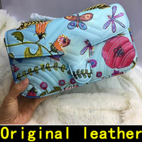 Wholesale handbags colorful patchwork - Colorful flower pattern Designer Handbags high quality Luxury Handbags Famous Brands women bags Real Original Genuine Leather Shoulder Bags