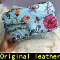 bolsas de marca coloridas venda por atacado-Teste padrão de flor colorida Bolsas de Grife de alta qualidade de Luxo Bolsas de Marcas Famosas mulheres sacos Real Original Bolsas de Ombro de Couro Genuíno