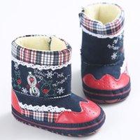semelle de noel achat en gros de-Soft Sole Prewalkers Premiers Marcheurs Cadeaux De Noël Enfant En Bas Âge Respirant Confortable Chaud