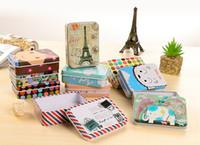 Wholesale Square Gift Tin Box - Cartoon iron storage box Korea cute retro mini tin box Jewelry gift card small iron box