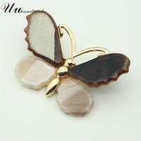 Wholesale vintage butterfly pins brooches - Vintage Brooch Time-limited Jewelry Large Lapel Pin Women Brooches Fashion Broche Acrylic Butterfly 2017 new pins