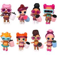 baby mädchen diy großhandel-Dropshipping 8 teile / los LOL PUPPE DIY tragen kleidung Flasche Mädchen lol Puppe Baby Ändern mit Brille Action Figure Spielzeug Kinder Geschenk spielzeug für mädchen