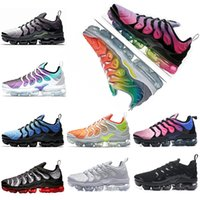Wholesale falling reverse - 2018 new Vapormax TN Plus Running Shoes Grape BETRUE Outdoor Run Shoes Red Shark Reverse Sunset Sport Shock Sneakers Men requin Olive Silver