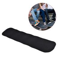 Wholesale skateboard grip tape resale online - New Waterproof Skateboard Sandpaper for Street Skateboard Deck Grip Tape Griptape Skating Board Black color