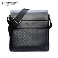 2a379768c5db HORYEER sacoche homme special offer leather messenger bag fashion men  business crossbody bag brand POLO Shoulder briefcase