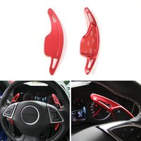 Wholesale aluminum paddles - Car Steering Wheel Gear Shift Paddles (Pair) Aluminum Alloy Styling Accessories Extension Fit Chevrolet Camaro 2017