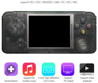 lcd-format großhandel-RETROGAME Handheld-Spiel-Spieler 64bit 3.0 Zoll LCD kann 3000 Spiele speichern Tragbare Spielkonsole für CP1 CP2 NEOGEO GBA FC SFC MD Format Spiele