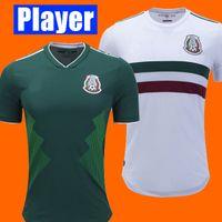 Wholesale quality player - Player Version World Cup 2018 Mexico Soccer Jersey CHICHARITO LOZANO DOS SANTOS MÉXICO top thailand quality camisetas de futbol