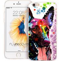 iphone fall hund apfel großhandel-Deutscher Schäferhund klare weiche TPU-Silikon-Telefon-Abdeckung für iPhone X 7 8 Plus 5S 5 SE 6 6S Plus 5C 4S 4 iPod Touch 6 5 Fälle.