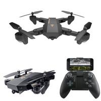 aircraft axis 도매-HD 2MP 카메라 드론 RC 장난감 접이식 드론 C3846와 XS809W 쿼드 콥터 항공기 와이파이 4 축 고도 홀드 기능 RC 드론