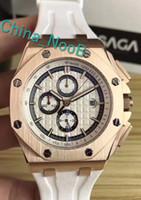 Wholesale a2 leather - Factory direct For Men Fashion Classic 44mm royal oak Offshore Michael Schumacher Japan VK Quartz Movement Wristwatches Sapphire 26568PM -A2