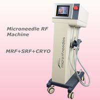 elektrikli yüz rulo toptan satış-Yüz için yeni mikro iğne silindir fraksiyonel rf microneedle makinesi elektrikli gözler ve vücut için microneedle terapi