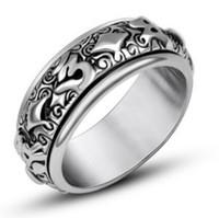 coole heiße schmucksachen großhandel-Designer Schmuck Ringe für Männer Tianium Stahl drehbar cool Punk offene Ringe heiße Mode frei von Versand