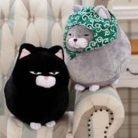schöne liebhaber baby großhandel-Süße japanische amüsieren gleichen Absatz Schnurrbart Schädel Katze Katze Segen Serie super süße Katze kleine Puppe Kinder Plüschtiere