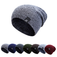 13bac40898a Women Winter Thick Wool Knitted Unisex Caps Baggy Beanies Men Soft Slouch  Stocking Hat Skullies Beanies Bonnet Ski Hiphop Hat