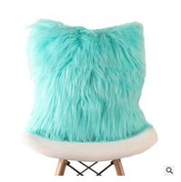 Wholesale knit throw pillows for sale - Group buy Cushion Cover Soft Plush Faux Fur Fashion Pillowcase Sofa Throw Pillows Cover Wedding Home Car Decorative Colors cm DHL