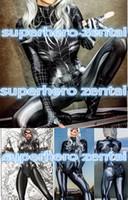 schwarze katzenkostüme für frauen großhandel-Schwarze Katze Symbiote Cosplay Kostüme 3D-Druck ist-maßgeschneiderte Lycra Spandex Zentai Spider-Frau Venom Body Spider-Girl Spiderm
