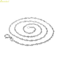 женские модели ожерелья оптовых-Hot  necklace female models wave chain of high-end women's jewelry, vintage jewelry silver jewelry top 45CM