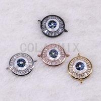 metal pavé cuentas de cristal al por mayor-10 piezas colgantes redondos cuentas de micro micro pavimentan pequeños colgantes de joyas de piedra de cristal que encuentran 3541
