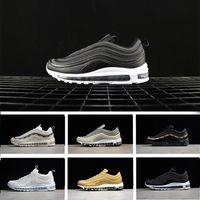 Wholesale Fall Japan - 2018 Undefeated 97 x UNDFTD Running Shoes Japan Silver Bullet Metallic Gold Triple white balck 97s Men women Casual Sport shoe Sneaker