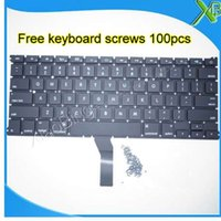 Wholesale brand new keyboard resale online - Brand New For MacBook Air quot A1369 A1466 US keyboard keyboard screws Years