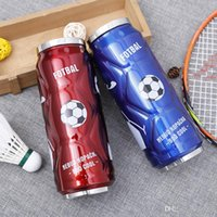 Wholesale football water bottles - Stainless Steel Vacuum Water Bottles Man Women Fashion High Quality Straw Cup Football Design Outdoors Portable Pretty Texture 25ss X