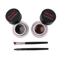 Wholesale gel eyeliner online - Music Flower Eyeliner in Brown Black Long wear hours Gel Eyeliner Make Up Waterproof Cosmetics Set set