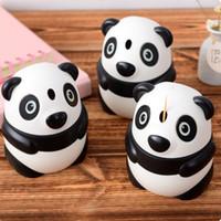 porta palitos de palito de plástico venda por atacado-Adorável Criativo Panda Em Forma de Palito Automático Canister Titular - Dos Desenhos Animados de Bolso Pequeno Plástico Palito Caixa De Garrafa Frete Grátis