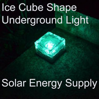 Wholesale led light cube lamp - yard lamp LED Solar landscape lights Free shipping DHL Ice cube LED Solar energy underground solar lights underground lamp lighting sensor