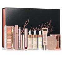 make-up-kit lippenstift schatten großhandel-O. TWO. O 11 Teile / satz Make-Up Set Foundation Lidschatten Lippenstift Eyeliner Mascara Lipgloss Damen Make-Up Kit Geschenk