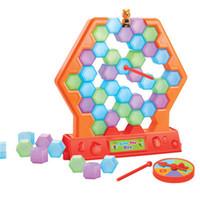 Wholesale Big Savings - Fun Honeycomb Buidling Blocks Toy Parent Child Interaction Desktop Game Save The Bee Toys Kid Gift 13hd C R