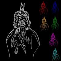 ingrosso nuove tavole per i bambini-Nuova azione 3D Figura Colori Sfumatura Supereroe Batman Visual LED illusione Night Lights Camera da letto Tavolo Desor Bambino Amico Compleanno Giocattoli Regali