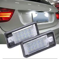 audi a4 chips al por mayor-1 Par 18 LED Chips 13.5 V Error de Coche Blanco 18 LED Número de Licencia Placa de Luz para Audi A3 S3 A4 A8 B6