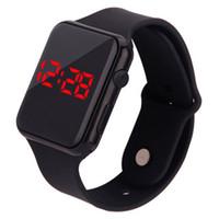 çocuklar için dijital saat toptan satış-Şeker Renk spor İzle Silikon kayış LED elektronik saatler erkek kadın çocuklar için Saatler Tarih Bilezik Dijital Spor Kol Saati öğrenci
